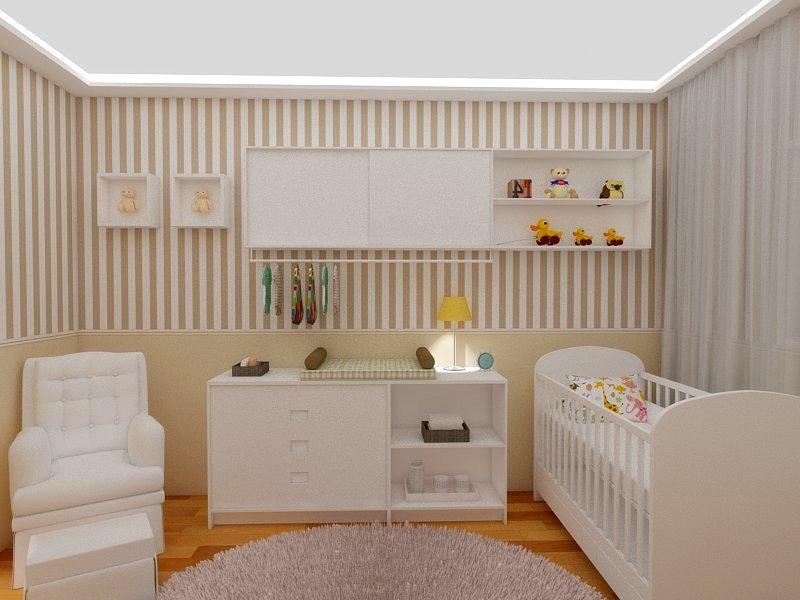 Quarto de beb u00ea Portfólio Renata Marcelino -> Decoração De Gesso Para Quarto De Bebe